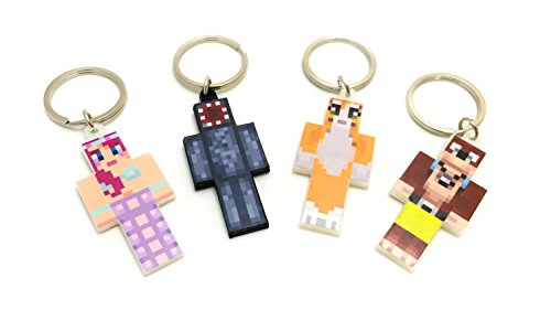 EnderToys Keychain Bundle Set, 4 Pieces, Magic Animal Club Series