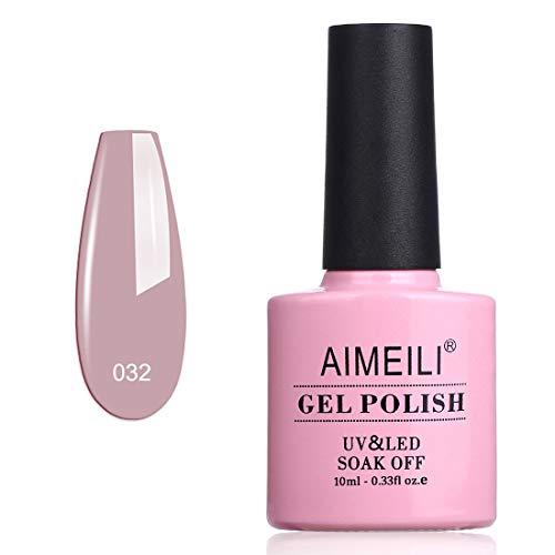 AIMEILI Soak Off UV LED Vernis à Ongles Gel Semi-Permanent Nude Gel Polish - Eur So Chic (032) 10ml