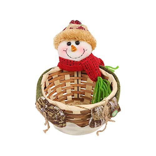 Frutero Tienda de dulces de Navidad Navidad adornos adornos caída de caramelo cesta cesta de decoración de Navidad de Santa Claus Mantiene las frutas y verduras frescas ( Color : C , Size : 20x18CM )