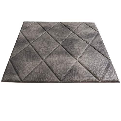 Craft Faux Diamond Wall Panels - Peel and Stick Foam Diamond - 3D Wall Panels for Fake Diamond Wall - Self Adhesive Diamond Wall Panels - 3D Diamond Wallpaper (10 Pack, Gator Grey)