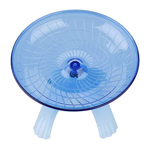 ハムスターエクササイズホイールホイールスピナープラスチックサイレントローラーマウスハムスターのためのベースの小動物スイングおもちゃ (Color : Blue)