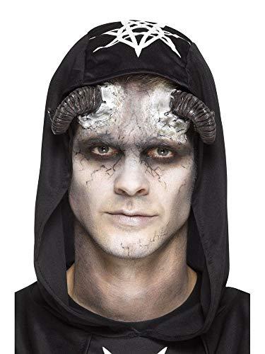shoperama Prothesen Latex Hörner Dämon Faun Widder mit Kleber Cosplay Haut-Applikation FX Make-up Horror Halloween Damen Herren