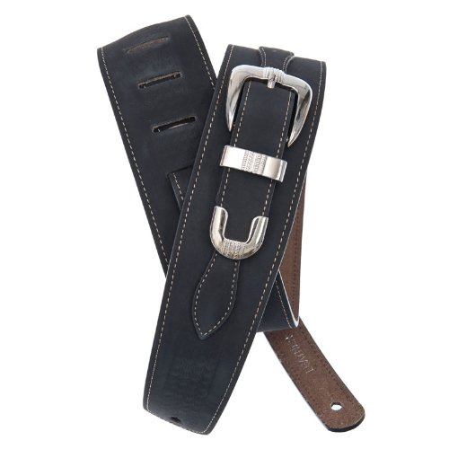 Planet Waves 25LBB00 suède riem The Decorated Strap Collection Belt Buckle - Black Lengte: 1280mm Breedte: 64mm