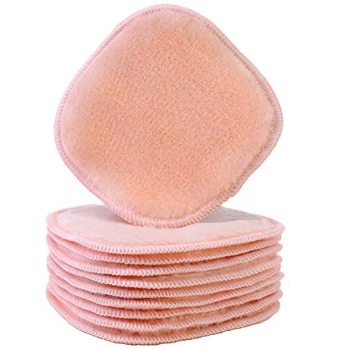 Polyte Premium Hypoallergenic Chemical Free Microfiber Fleece Makeup Remover and Facial Cleansing Cloth, 5 x 5 in, 10 Pack (Light Coral)