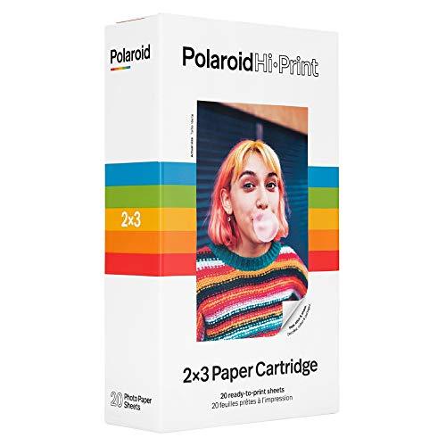 Pack Polaroid com 20 papéis fotográficos adesivos Hi.Print 2x3
