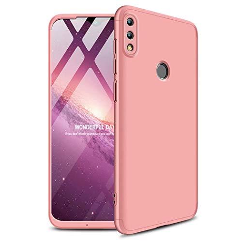 TXLING Custodia per Huawei P Smart 2019 / Honor 10 Lite Cover 360°Copertura Protettiva Case PC Guscio Duro Anti Shock Anti-graffio Bumper Caso Oro Rosa+ (1 Pezzi) Pellicola Protettiva