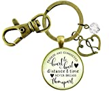 Gutsy Goodness Friendship Keychain Friends Connected Long Distance Jewelry Open