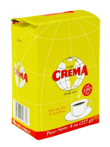 Café Crema Ground Coffee from Puerto Rico, 8 ounce bag (Pack of 2)