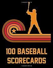 100 Baseball Scorecards: 100 Scoring Sheets For Baseball Games