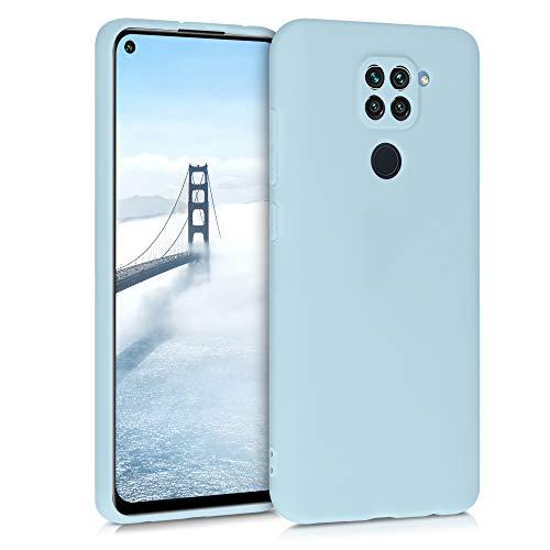 kwmobile Custodia Compatibile con Xiaomi Redmi Note 9 - Cover in Silicone TPU - Back Case per Smartphone - Protezione Gommata Celeste Pastello