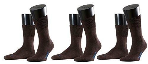 Falke Sport Spirit Unisex Socken Run 3er Pack,42/43;Farbe:Dark Brown (5450)
