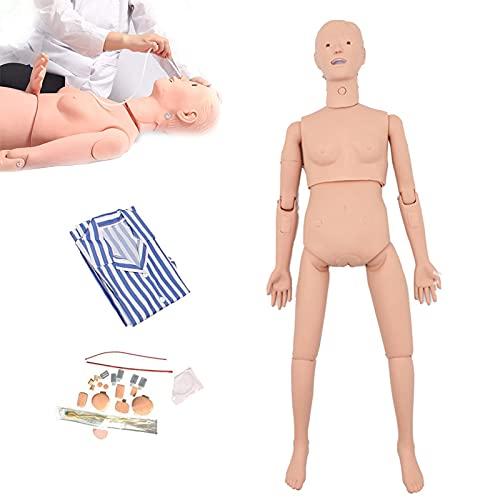 ZMIN Maniquí de enfermería de PVC Multifuncional, RCP Maniqui con Repuestos Reemplazables para Enseñanza Y Educación Suministros Médicos
