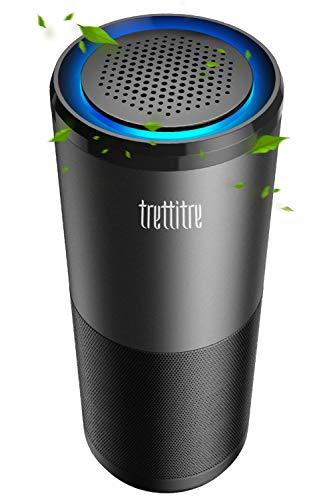 trettitre Portable Air Purifier, True H13 Hepa Filter and Dual UV Light Sanitizer for Car Bathroom Eliminate Smoke Odor Dust Kills 99.9% of Viruses & Bacteria