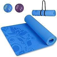 INTEY TPE Tapis Yoga, Tapis Fitness sans Colle, Antidérapant, Épais, Écologique, Hypoallergénique, Cordon Inclus, 180 x...