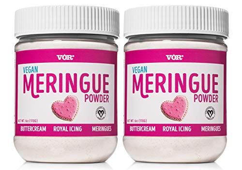 Vör Vegan Meringue Powder (6oz) | Easy Egg-Free Baking & Decorating | Certified Kosher & Non GMO (2 Pack)