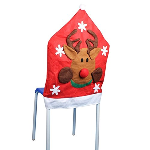 SSITG Kerststoelhoezen, kerstmuts, stoelovertrek, stoelovertrek, stoelhoes
