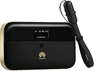 Huawei Pro 2 E5885Ls WiFi Router and Powerbank, 4G LTE, 6400mAh, Black and Gold