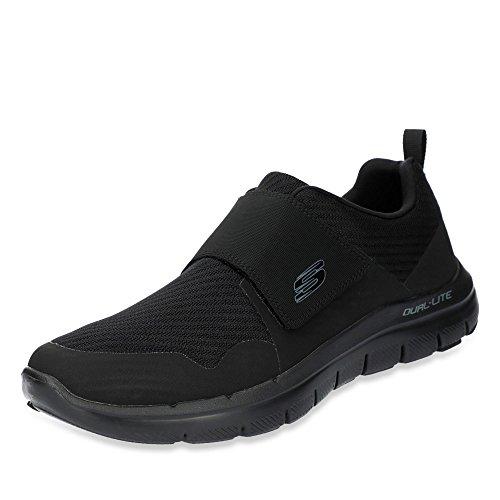 Skechers 52183, Zapatillas con Velcro Hombre, Negro, 43 EU