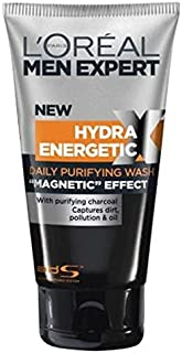 L'Oreal Men Expert Hydra Energetic X-Treme Black Charcoal Face Wash 150Ml - Pack of 2