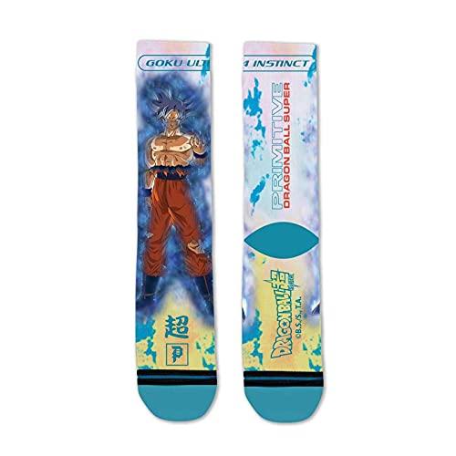 Primitive x Dragon Ball Super Men's Goku Ultra Instinct Socks Teal Blue