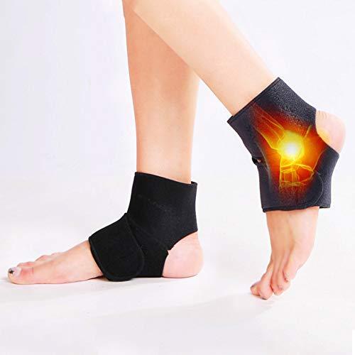 Hankyky Turmalin Selbsterhitzung Magnetfeldtherapie Fußknöchelschutz Unterstützung Massage Gürtelpolster Enthalten 1 Paar