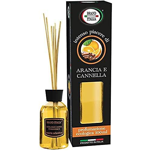Brand Italia Diffusore A Bastoncino Profumazione Arancia Cannella - 100 Ml