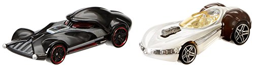 Hot Wheels Star Wars Personnage Voiture 2-paquets - Darth Vader contre Princess Leia