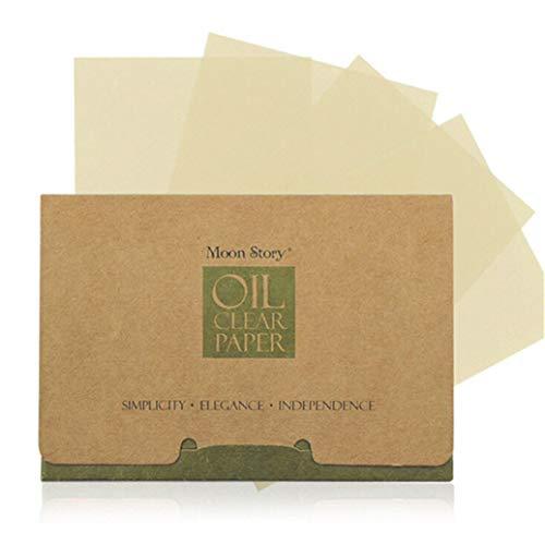 GOMYIE 100 Feuilles Papiers mouchoirs en papier pour le visage Thé vert Odeur Maquillage Huile démaquillante Huile absorbante pour le visage Papier absorbant Absorbant Blotting Clean Face (vert)