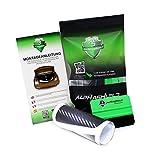 AlphaShield Protección para el borde del maletero, incluye raspador y fieltro, corte preciso para tu vehículo, accesorio para el maletero del coche, color negro carbón, L076 Leon KL 5D (5 puertas)