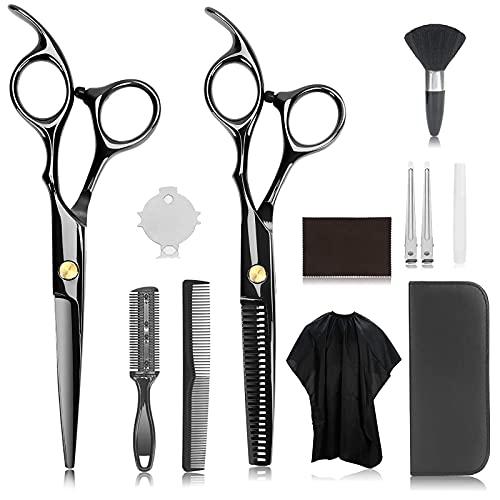 13PCS Hair Cutting Scissors Kits, JINSHOW Professional Stainless Steel...