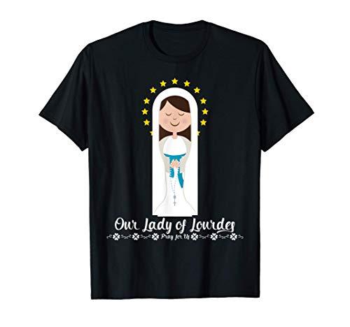 Nuestra Señora de Lourdes Rosario María Lindas Católica Camiseta