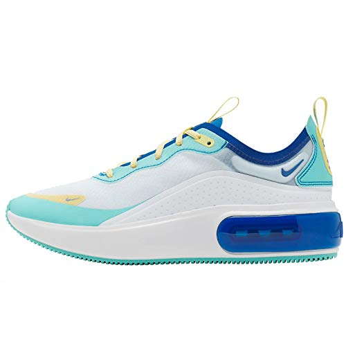 Nike Women's Air Max Dia SE Lifestyle Shoe (7, White/Light Aqua/Game Royal)