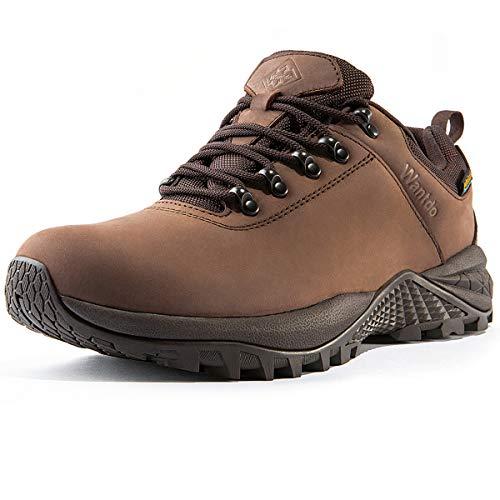 Wantdo Botas de Senderismo Impermeables para Hombre al Aire Libre Zapatillas de Moda Casual Ligero Zapatos de Nieve Transpirable Running Trekking Multideporte Marrón 42 EU
