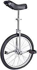 """MIGRES Unicycle 20 inch Single Wheel Unicycles for Adults One Wheel BikeTires Mountain Unicycle, Suitable User Height: 57"""" to 69"""", Weight Limit: 143 Lbs, Sliver+Black"""
