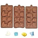 UTRUGAN Molde de Silicona Animal Molde de Chocolate Antiadherente Moldes de Bombones para Hornear, Pastel, Tarta, DIY, Galleta, Cumpleaños, Jabón, Caramelos , Navidad, Boda, Fiesta (Marrón)