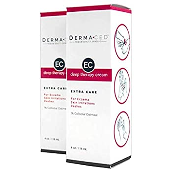 Deep Therapy Cream EC for Fast Eczema and Psoriasis Support - Unscented - Colloidal Oatmeal Jojoba Oil Licorice Beeswax and More