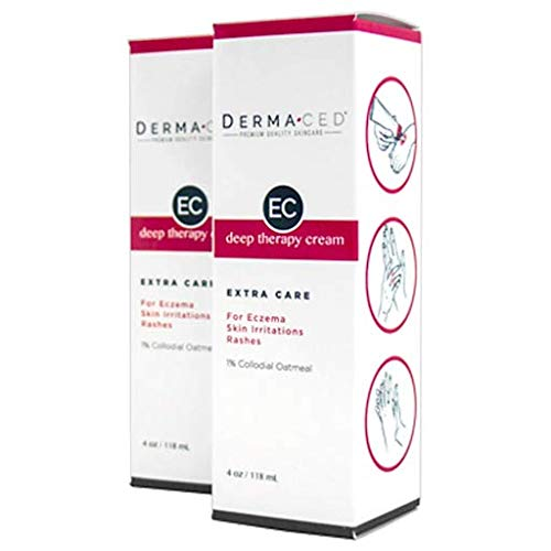 Deep Therapy Cream EC for Fast Eczema and Psoriasis Support - Unscented - Colloidal Oatmeal, Jojoba Oil, Licorice, Beeswax and More