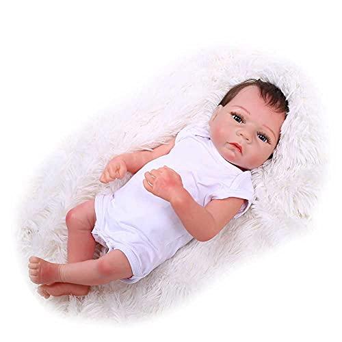 AXB Muñeca Reborn, 20 Pulgadas Reborn Silicona Bebes Aspecto Realista Vida como Muñeca Muñeca Recién Nacida Silicona Muñeca con Traje Chupete biberón Certificado de Nacimiento