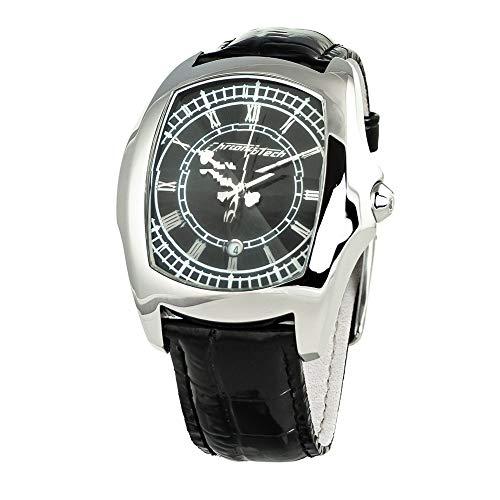 Chronotech Herren Analog Quarz Uhr mit Leder Armband CT7896M-92