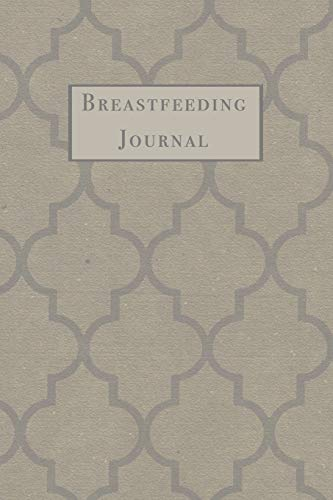 Breastfeeding Journal: Damask Pattern Newborn Baby Feeding and Diaper Tracker with Dot Grid Journaling Pages