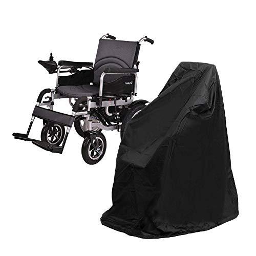 precauti Rollstuhl-Schutzhülle Professionelle wasserdichte Rollstuhlabdeckung, Regenschutz, langlebig, leicht zu schützen, Winddicht und UV-beständig (Größe: 115 x 75 x 130 cm)
