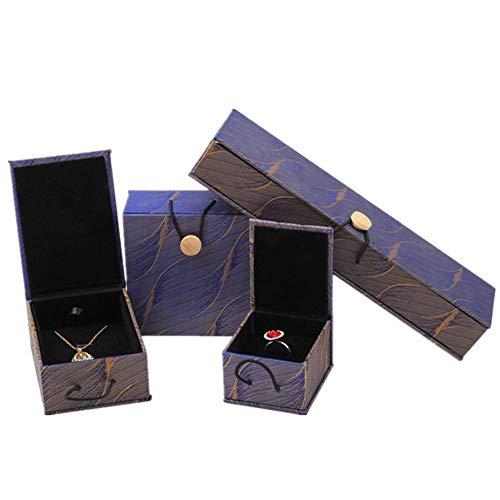 ZUOLUO topmodel schmuckkästchen Schmuckkästen Geschenkbox Großvolumige Schmuckschatulle Speicherorganisator Damast-Schmuckschatulle Halskette Box Set
