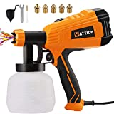YATTICH Paint Sprayer, 700W High Power HVLP Spray Gun, 5 Copper Nozzles & 3 Patterns, Easy to Clean, for Furniture, Cabinets, Fence, Car, Bicycle, Garden Chairs etc. YT-201-A
