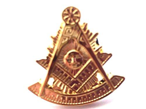 D0179 Lapel Pin Masonic Past Master Gold 3/4'