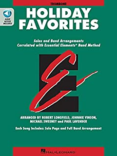Essential Elements Holiday Favorites: Trombone Book with Online Audio