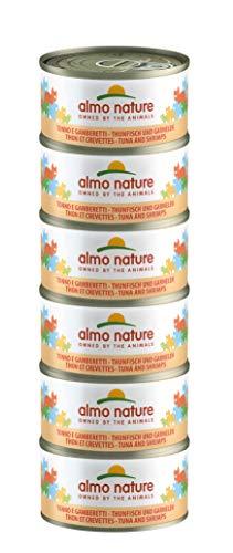 Almo Nature Mega Pack - Atún y Camarones 6 x 70g latas