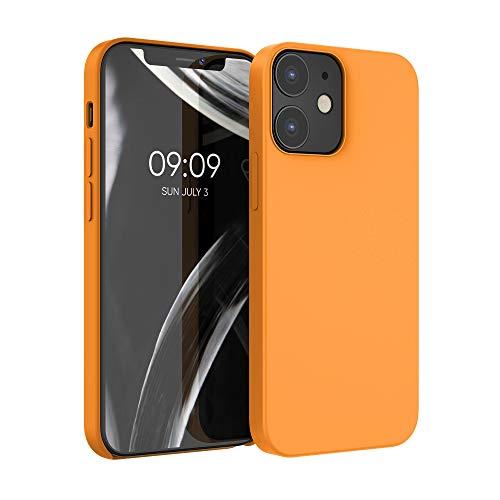 kwmobile Hülle für Apple iPhone 12/12 Pro - Handyhülle gummiert - Handy Hülle in Cosmic Orange