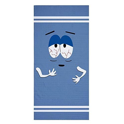 Lustige Towelie Big Lounger Strandtuch Neuheit Reise Badetücher Set for Erwachsene Große Leichte Sport Gesicht Handtuch Gym Männer 140X70 (Color : Towelie, Size : 35x75cm Face Towel)