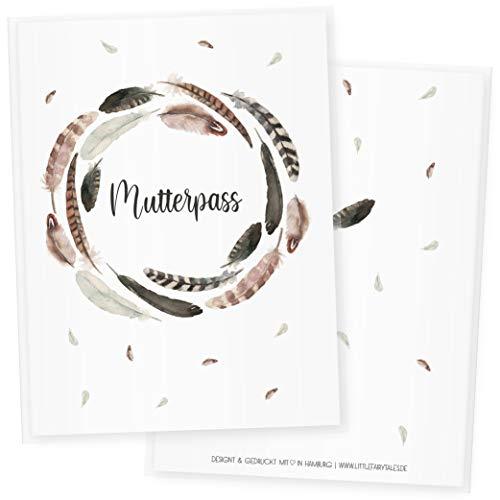 Mutterpasshülle 3-teilig Watercolor, Mutterpass Hülle, Schöne Geschenkidee für Babyparty (Mutterpass DE, Blumen 1)