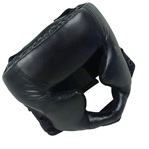 Adults Boxing Head Guard Helmet Boxing Practise Training Head Protection Headgear Accessory, Black
